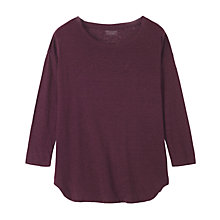 Buy Toast Linen T-shirt, Purple Online at johnlewis.com