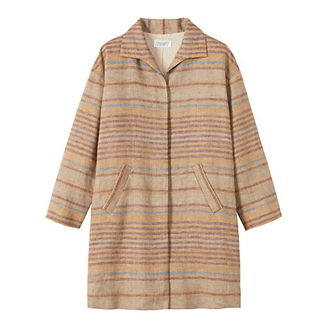 Buy Toast Stripe Coat, Toffee Online at johnlewis.com