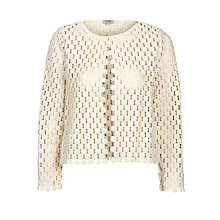 Buy Hoss Intropia Crochet Jacket, Ivory Online at johnlewis.com