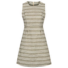 Buy Hoss Intropia Ticker Stripe Dress, Ivory Online at johnlewis.com