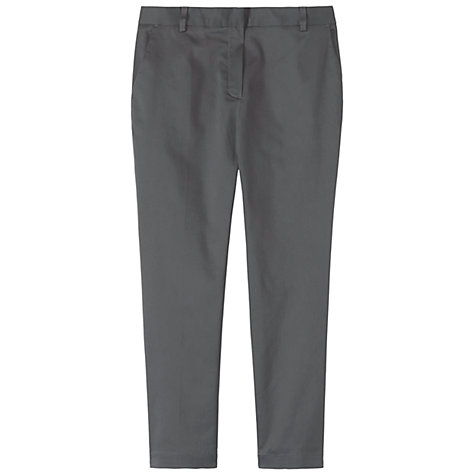 Buy Toast Slim Leg Cropped George Trouser, Dark Grey Online at johnlewis.com
