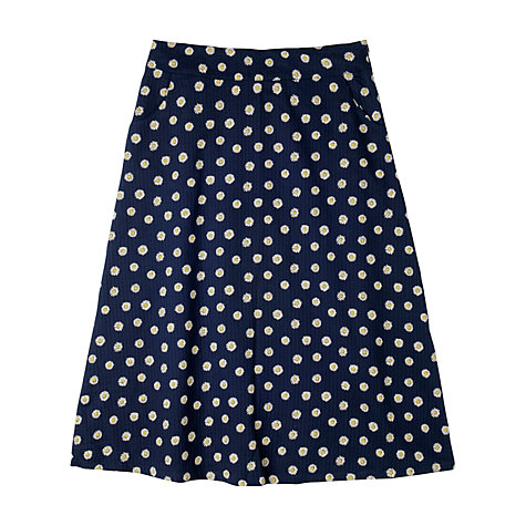 Buy Seasalt Feock Skirt, Daisy Dot Squid Ink Online at johnlewis.com