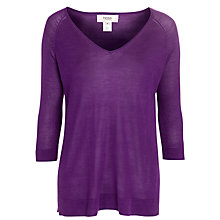 Buy Hoss Intropia V-Neck Jumper, Purple Online at johnlewis.com