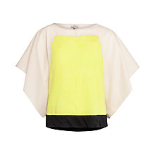 Buy Hoss Intropia Colour Block Jumper, Beige/Yellow Online at johnlewis.com