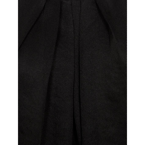Buy Farhi by Nicole Farhi Slinky Pleat Front Top, Black Online at johnlewis.com