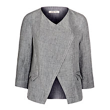 Buy Crea Concept Linen Waterfall Jacket, Grey Online at johnlewis.com