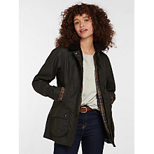 Buy Barbour Beadnell Waxed Jacket, Olive Online at johnlewis.com