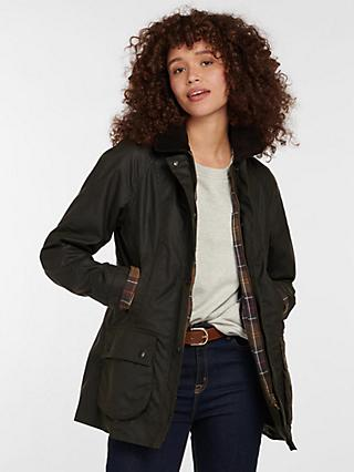 Barbour Classic Beadnell Waxed Jacket, Olive