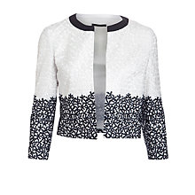 Buy BOSS Woman Jedella Embroidered Jacket, White Online at johnlewis.com