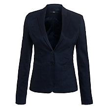 Buy BOSS Jirella Suit Jacket, Open Blue Online at johnlewis.com