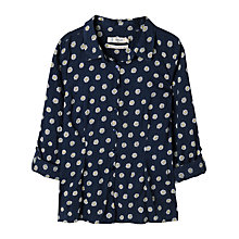 Buy Seasalt Larissa Shirt, Daisy Dot Squid Ink Online at johnlewis.com