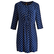 Buy Joules Calista Spot Tunic Dress, Navy Spot Online at johnlewis.com