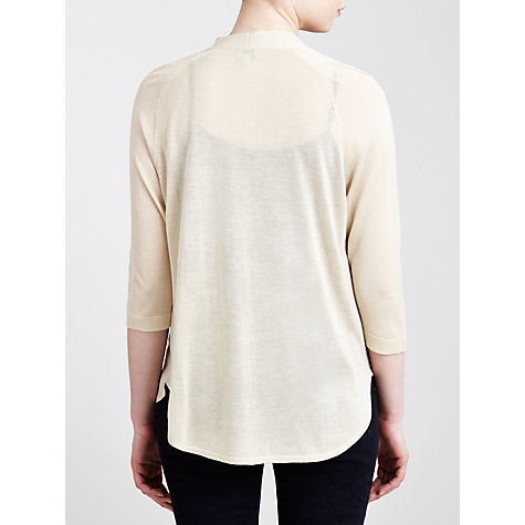 Buy Hoss Intropia Open Neck Cardigan, Ivory Online at johnlewis.com