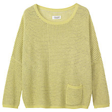 Buy Toast Waffle Knit Pullover, Bright Lime Online at johnlewis.com