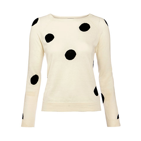Buy Hoss Intropia Polka Dot Jumper, Ivory Online at johnlewis.com