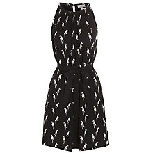 Buy Hoss Intropia Parrot Print Dress, Black Online at johnlewis.com