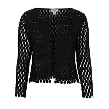 Buy Hoss Intropia Crochet Jacket, Black Online at johnlewis.com