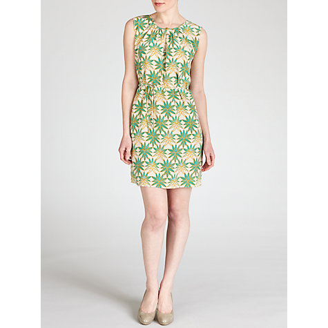 Buy Hoss Intropia Leaf Print Silk Dress, Green Online at johnlewis.com