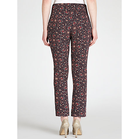 Buy Hoss Intropia Spring Leaf Trousers, Coral Online at johnlewis.com