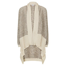 Buy Farhi by by Nicole Farhi Tweed Knit Waterfall Cardigan, Ecru Online at johnlewis.com