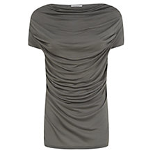 Buy Farhi by Nicole Farhi Cowl Neck Jersey Top, Khaki Online at johnlewis.com