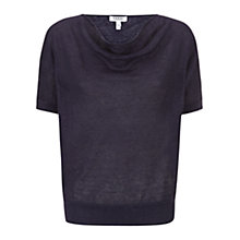 Buy Farhi by Nicole Farhi Linen Cowl Top Online at johnlewis.com