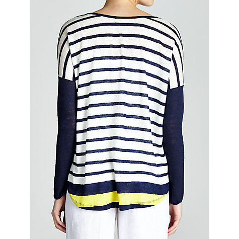 Buy Charli Contrast Stripe Top, Peacoat Combo Online at johnlewis.com