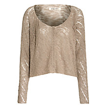 Buy Crea Concept Textured Cropped Cardigan, Taupe Online at johnlewis.com