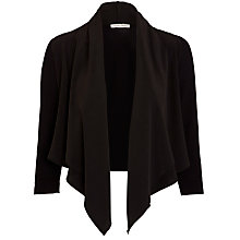 Buy Crea Concept Waterfall Cardigan, Black Online at johnlewis.com
