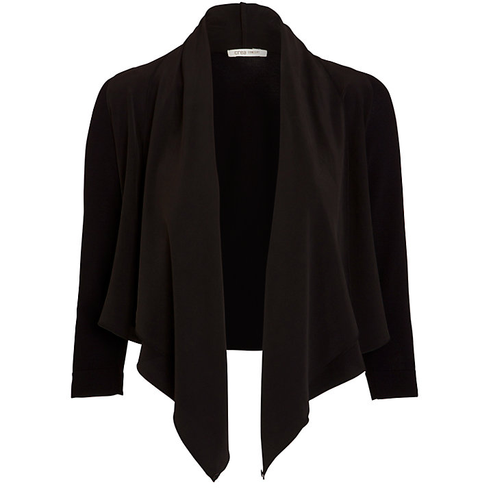 Crea Concept Waterfall Cardigan, Black