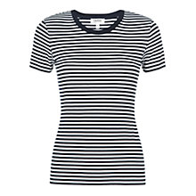 Buy Farhi by Nicole Farhi Breton Stripe T-Shirt, Navy/White Online at johnlewis.com