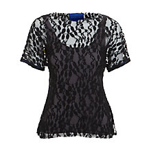 Buy Winser Lace Leaf Top, Black/Grey Online at johnlewis.com