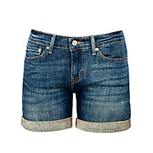 Buy Levi's Rolled Hem Denim Shorts, True Blue Online at johnlewis.com