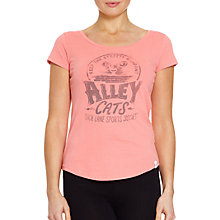 Buy Rampant Sporting Print T-shirt, Salmon Rose Online at johnlewis.com