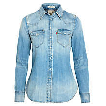 Buy Levi's Tailored Denim Shirt, Medium Heritage Online at johnlewis.com