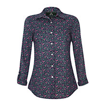 Buy Rampant Sporting Heritage Floral Lynmouth Shirt, Navy Online at johnlewis.com