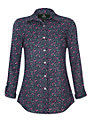 Rampant Sporting Heritage Floral Lynmouth Shirt, Navy