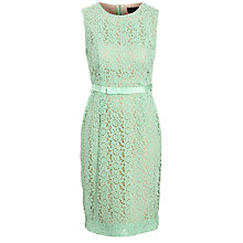 Buy Needle & Thread Fitted Lace Dress, Powder Pastel Online at johnlewis.com