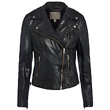 Buy Muubaa Indus Quilted Shoulder Biker Jacket, Black Online at johnlewis.com