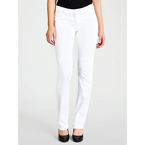 Buy Lee Marion Straight Leg Jeans, Pure White Online at johnlewis.com