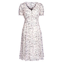 Buy Ghost Patsy Floral Dress, Floral Sketch Pink Online at johnlewis.com