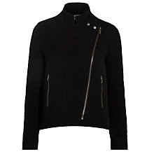 Buy Ghost Marlene Embroidered Biker Jacket, Black Online at johnlewis.com
