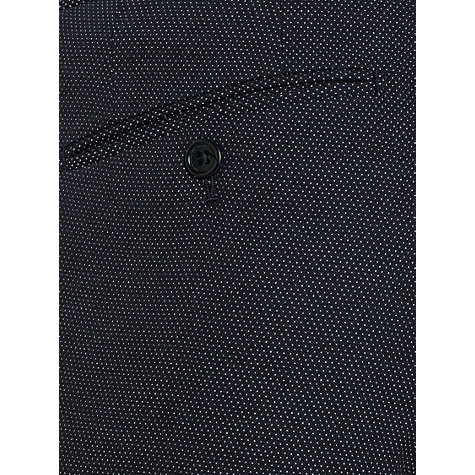Buy Jigsaw Cotton Micro Dot Slim Fit Trousers, Navy Online at johnlewis.com