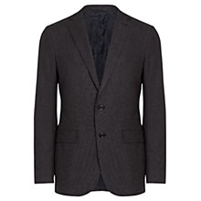 Buy Jigsaw Cotton Micro Dot Slim Fit Jacket, Navy Online at johnlewis.com