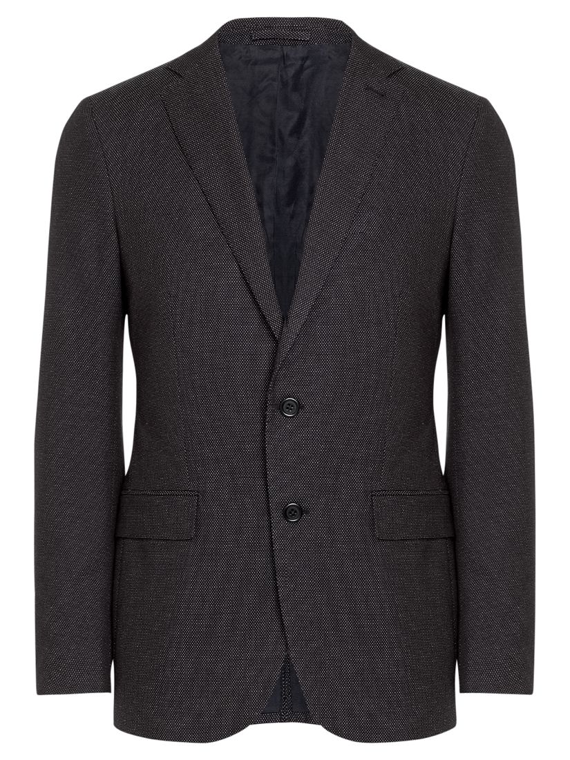 Jigsaw Cotton Micro Dot Slim Fit Jacket, Navy