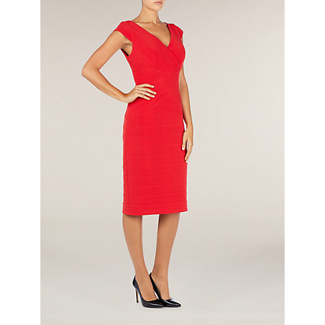 Buy Alexon Contour Bodycon Dress, Red Online at johnlewis.com