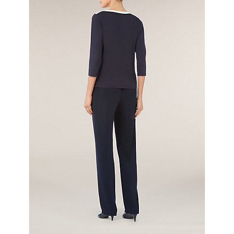 Buy Windsmoor Contrast Jumper, Navy Online at johnlewis.com