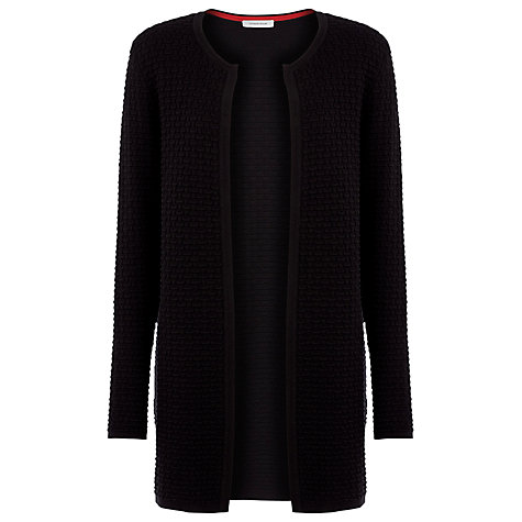 Buy Windsmoor Brick Knit Cardigan, Black Online at johnlewis.com
