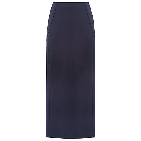 Buy Windsmoor Long Ponte Column Skirt, Navy Online at johnlewis.com