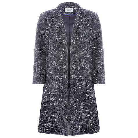 Buy Windsmoor Textured Long Line Jacket, Navy Online at johnlewis.com